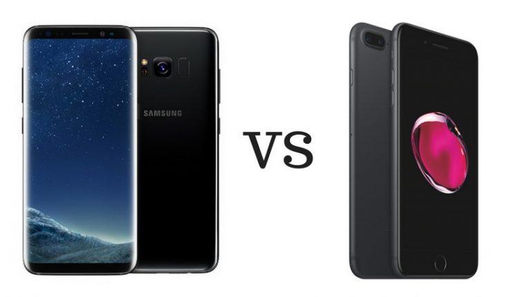 samsung galaxy s8 versus iphone7 plus